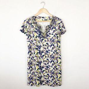 Boden Silk Blend Beaded Neckline Shift Dress